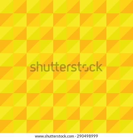 Pattern Vector Seamless Polygon Triangle yellow for different purchase - stock vector