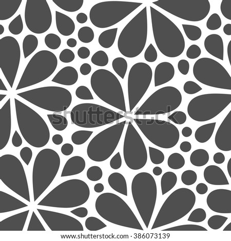 Pattern with abstract flowers. Seamless decoration wallpaper. Abstract vector illustration with flowers. Can be used for wallpaper, pattern fills, web page background, surface textures.
