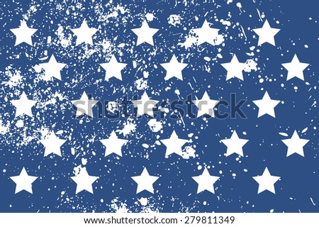 Pattern with american stars in grunge style. Cool print on T-shirts, fabric etc. - stock vector