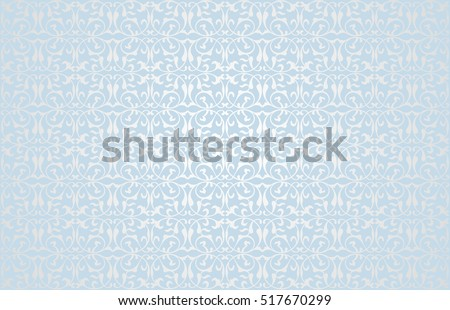 Pattern with blue ornament. Beautiful blue Christmas pattern. Background for Christmas card with blue pattern