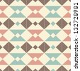 pattern with colored triangles on a gentle background - stock photo