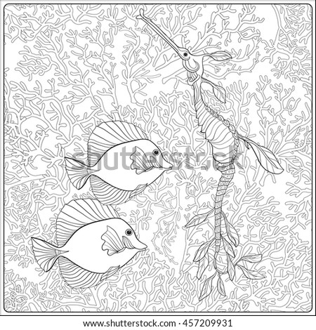 Incects Seamless Gray Scale Drawing Stock Illustration 143950324