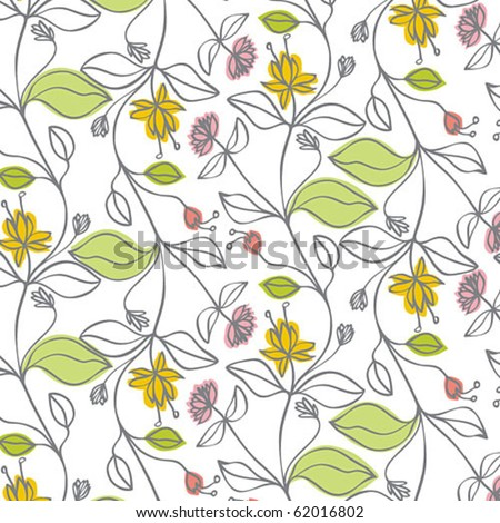 Pattern with delicate flowers - stock vector