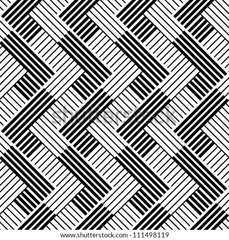 Pattern with line black and white - stock vector
