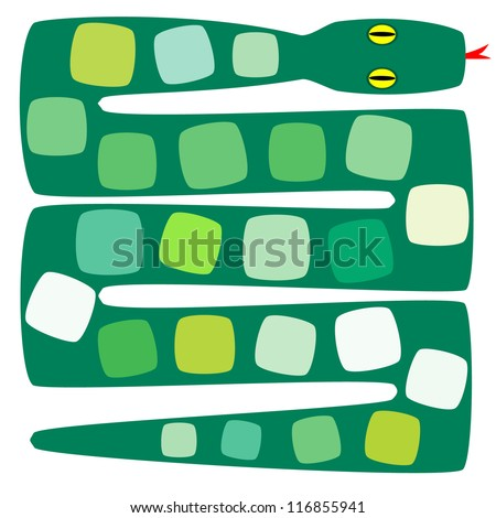 Pattern with snakes - stock vector