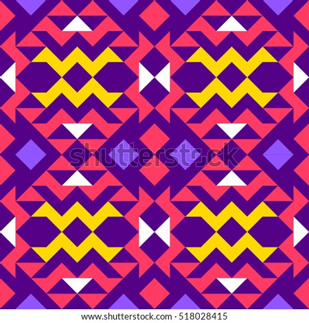 Pattern with triangles, geometry, background, ethnic style