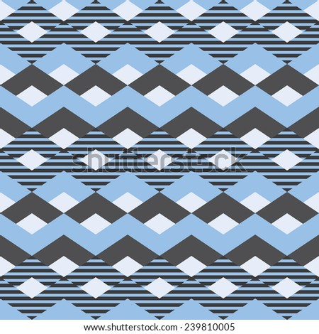 Pattern zigzag. Classic chevron seamless pattern. - stock vector