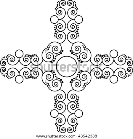 Patterned cross - stock vector