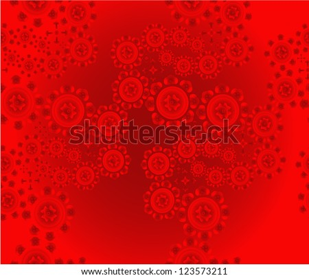 Patterned floral red background