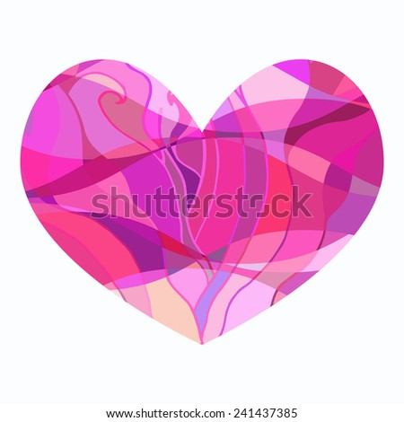 patterned heart vector valentine beautiful