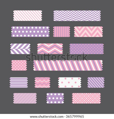 patterned tapes set. vector illustration - stock vector