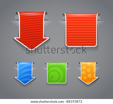Patterned vector labels with white boarder clip-art. You can place your content on them - stock vector