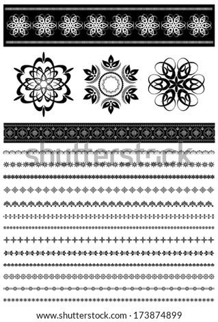Patterns and collection patterned border