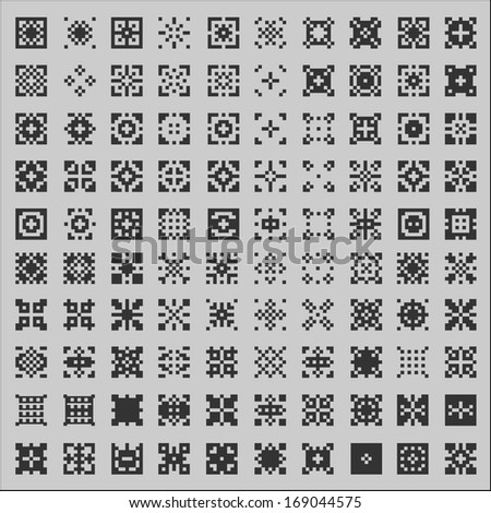 patterns seamless set - stock vector