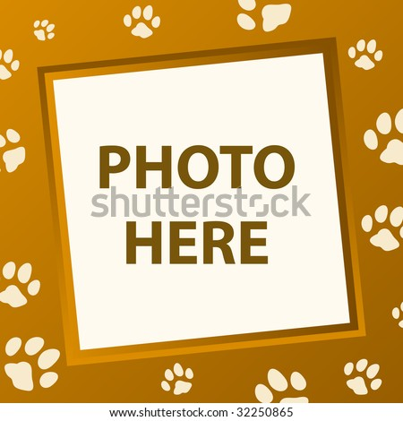 paw frame in vector mode - stock vector