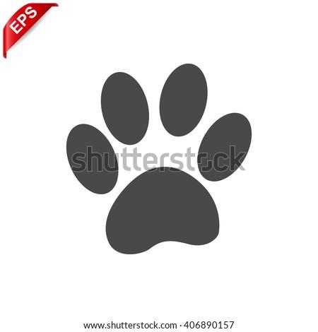 paw print icon paw print vector stock vector 2018 406890157 rh shutterstock com paw print vector file paw print vector art free