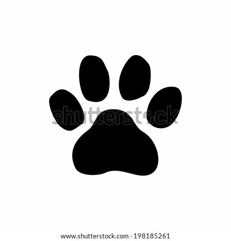 Paw Print. Vector - stock vector