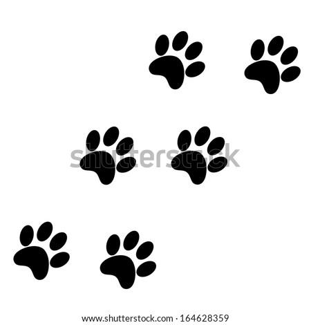 Paw Prints - stock vector