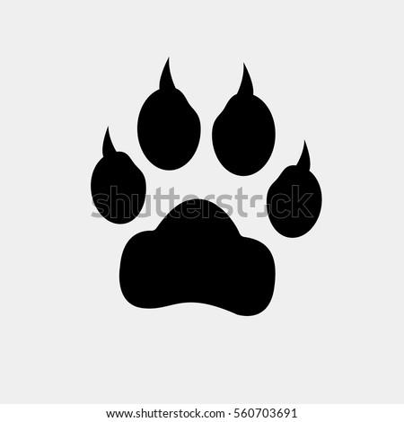 Red dog paw logo - photo#40