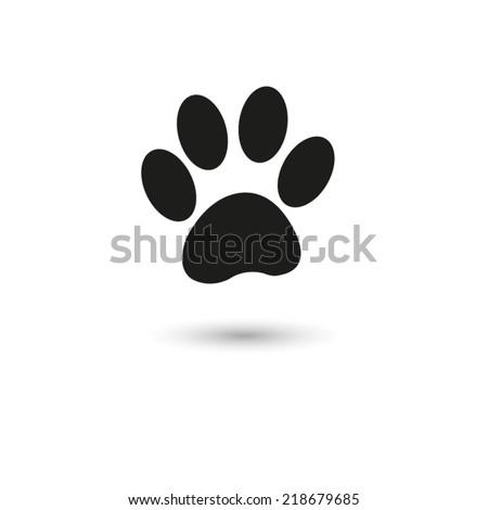 paw  - vector icon - stock vector
