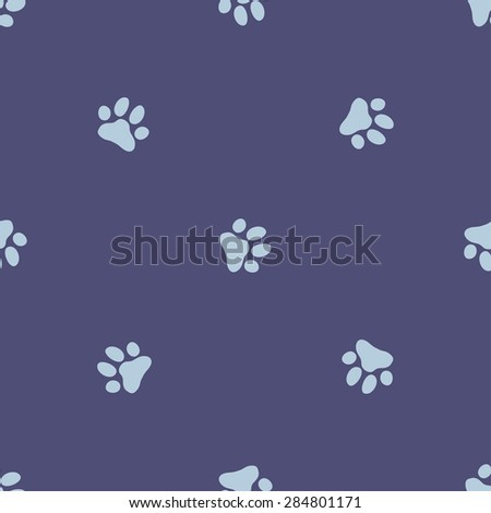 Paw zoo pattern. Illustration for animal design.
