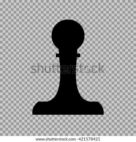 pawn icon. pawn sign - stock vector