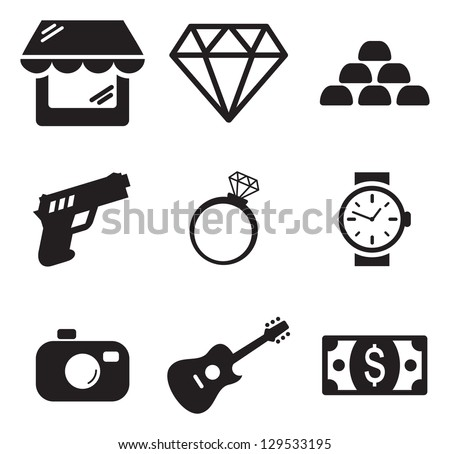 Pawn Shop Icons - stock vector