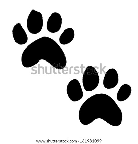 paws animals design silhouette. vector illustration - stock vector