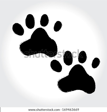 paws black print design. vector illustration