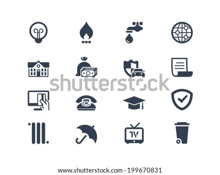 Pay bills icons - stock vector