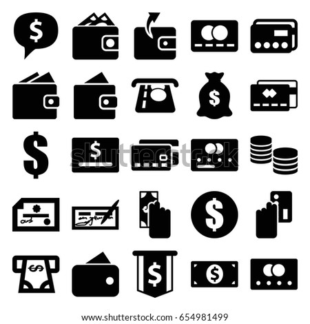 Pay Icons Set Set 25 Pay Stock Vector 647323300 - Shutterstock