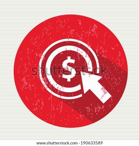 Pay per click symbol,vector - stock vector