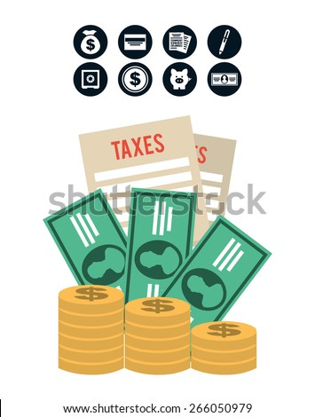 pay taxes design, vector illustration eps10 graphic