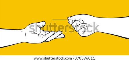 Paying with credit card - stock vector