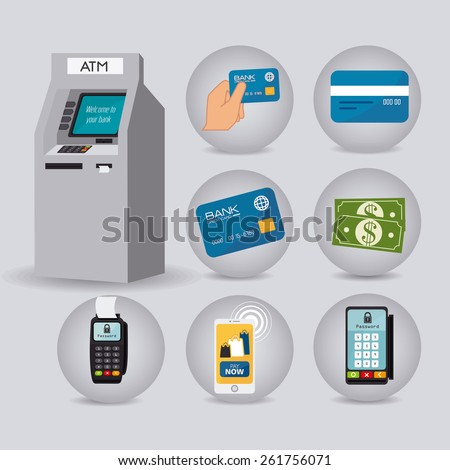 Payment design over Gray background, vector illustration. - stock vector