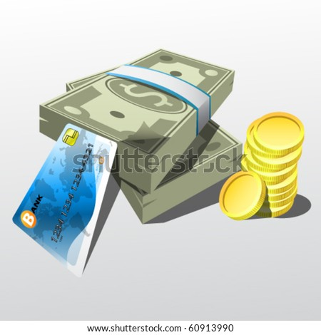 payment methods illustration - stock vector