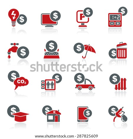 payment of  bills icons - vector icon set - stock vector