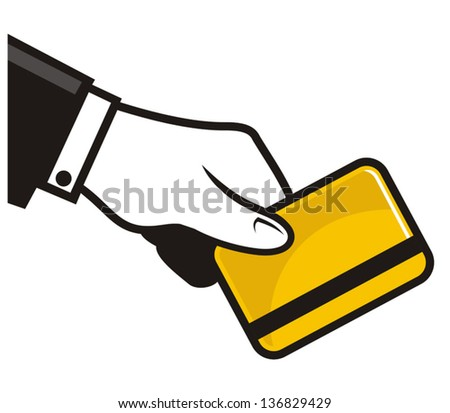 Payment with credit card - stock vector
