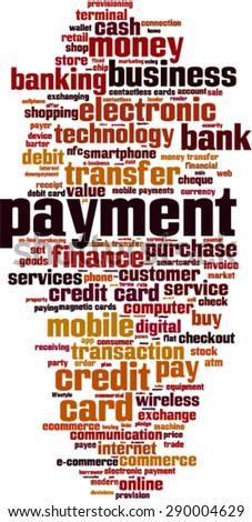 Payment word cloud concept. Vector illustration