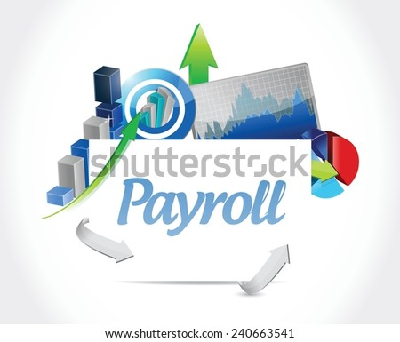 payroll business graphs illustration design over a white background - stock vector