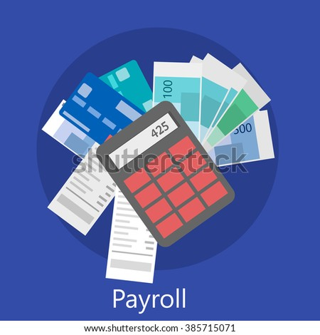 payroll icon - stock vector
