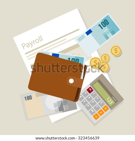 payroll salary accounting payment wages money calculator icon symbol - stock vector