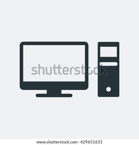PC Icon, PC Icon UI, PC Icon Vector, PC Icon Eps, PC Icon Jpg, PC Icon Picture, PC Icon Flat, PC Icon App, PC Icon Web, PC Icon Art, PC Icon Object, PC Icon Eps10 - stock vector