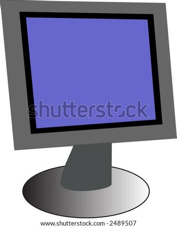 pc monitor - stock vector