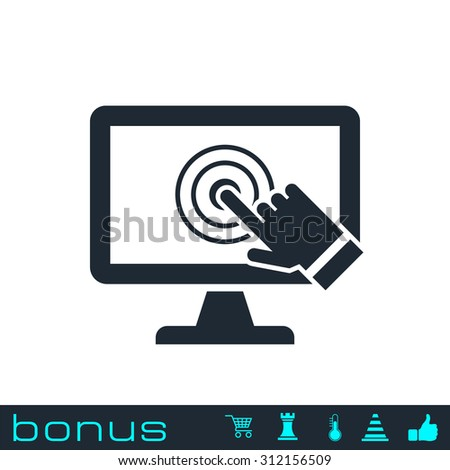 pc screen touch icon - stock vector