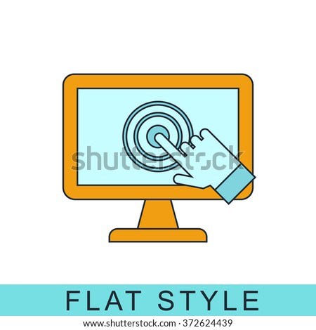 pc screen touch Icon Vector. Icon JPEG. pc screen Object. pc screen Picture. pc screenImage. pc screenGraphic. pc screen  Art. Icon JPG. pc screen touch Icon EPS. Icon AI. pc screen touch Icon Drawing - stock vector