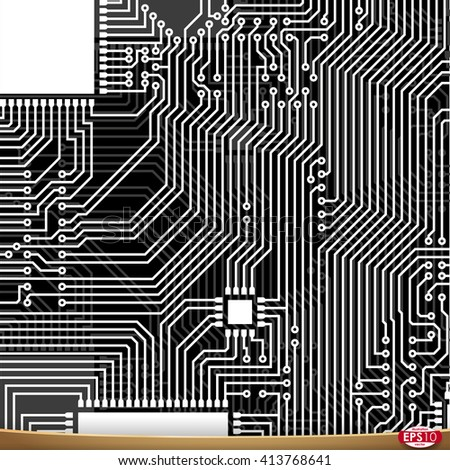 PCB wiring scheme. Vector electrical background. Computer motherboard abstract tech equipment. Electrical abstract circuit pcb scheme. Modern pcb (printed circuit board) engineering background.