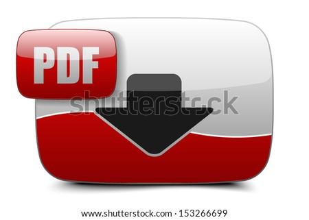 PDF button - stock vector