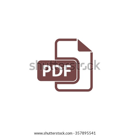 Pdf file format. Colorful vector icon. Simple retro color modern illustration pictogram. Collection concept symbol for infographic project and logo - stock vector