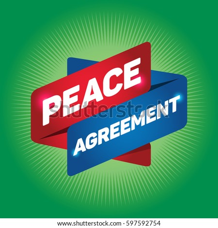 Peace Agreement Arrow Tag Sign Stock Vector 597592754 Shutterstock